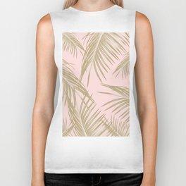 Blush Gold Palm Leaves Dream #1 #tropical #decor #art #society6 Biker Tank