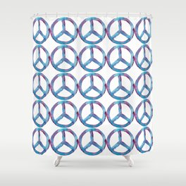 Bold Watercolor Peace Shower Curtain