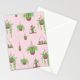 Mother, Macramé I? - Hanging Plants on Pink Stationery Cards