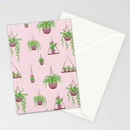 Mother, Macramé I? - Hanging Plants on Pink Stationery Cards
