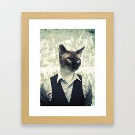 Fancy Cat Framed Art Print