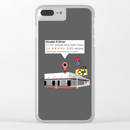 Double R Diner reviews Clear iPhone Case
