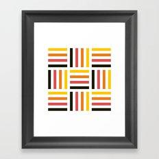 Pastel striped square pattern Framed Art Print