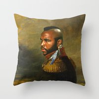 replaceface Throw Pillows featuring Mr. T - replaceface by replaceface