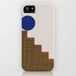 Blue Circle #2 iPhone Case
