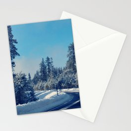 A sunny blue winter Stationery Cards
