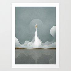 Space Elevator Art Print