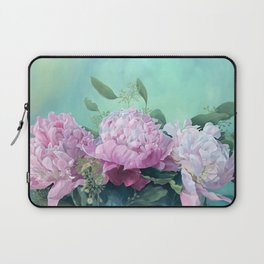 Pink Peonies The Three Sisters Floral Laptop Sleeve