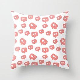 Like time social media pattern Throw Pillow