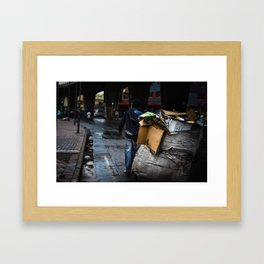 Waste picker On The Streets Framed Art Print