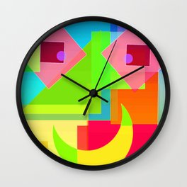 Abstract Geometry Face Wall Clock