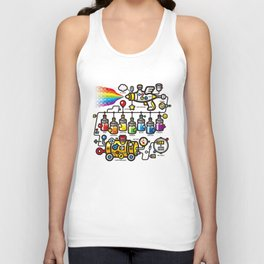 RAINBOW SPLASH Unisex Tank Top