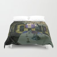 yolo Duvet Covers featuring YOLO by MICKEY FICKEY GALLERY
