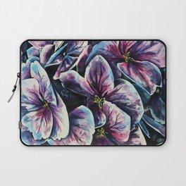 purple flowers watercolor art Laptop Sleeve