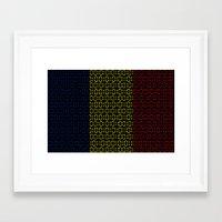 chad wys Framed Art Prints featuring digital Flag (Chad) by seb mcnulty