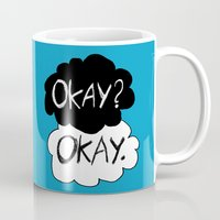 okay Mugs featuring Okay? Okay.  by Tangerine-Tane