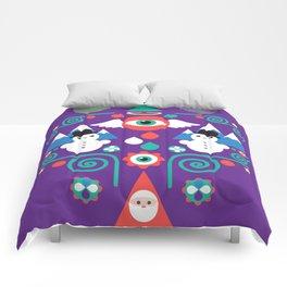 Christmas - purple pop Comforters