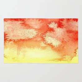 Orange Yellow Watercolor Texture Rug