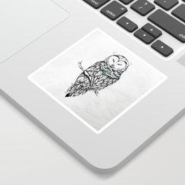Poetic Snow Owl Sticker