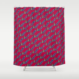 Let's Go Power Shopping! – Xmas Edition Shower Curtain