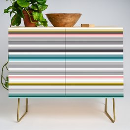 grey and colored stripes Credenza