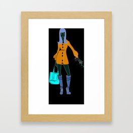 Thrifting Framed Art Print