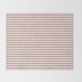 Sherwin Williams Canyon Clay Horizontal Line Pattern on White 2 Throw Blanket