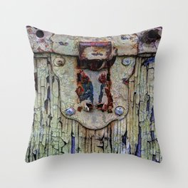 Cracked Vintage Paint Throw Pillow