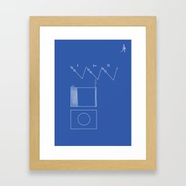 Voyager Golden Record Fig. 2 (Blue) Framed Art Print