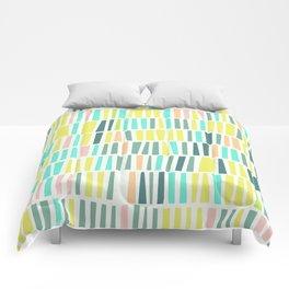 Terrazzo pastel overlay Comforters