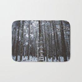 Appalachian Snowy Forest #1 Bath Mat