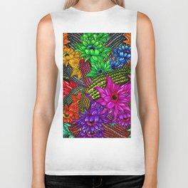 """Cacti Floral Madness"" Biker Tank"