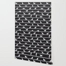 Cats Pattern (B&W) Wallpaper