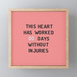 PEG BOARD SAFETY SIGN Framed Mini Art Print
