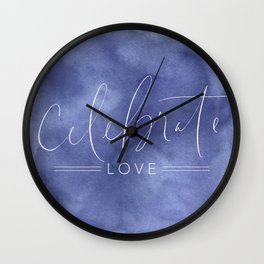 Celebrate Love Wall Clock