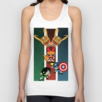 powerpuff girls Tank Tops featuring Powerpuff Girls by milanova