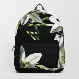 Wind Flowers On Black Backpack
