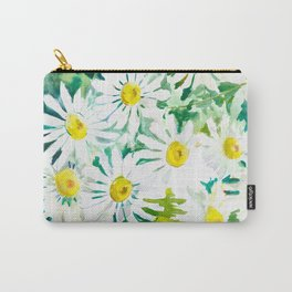 Chamomile Flowers, Herval design Field flowers wild flowers floral art Carry-All Pouch
