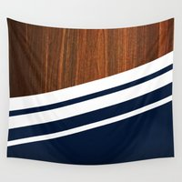 minimalist Wall Tapestries featuring Wooden Navy by Nicklas Gustafsson