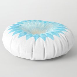 Lotus Flower Mandala Floor Pillow