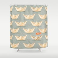 hello beautiful Shower Curtains featuring Hello! by Seaside Spirit