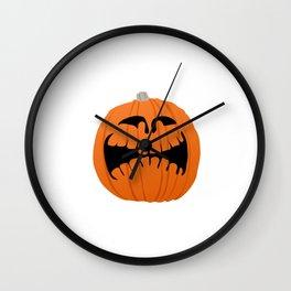 Pumpkin/Merry Halloween. Wall Clock