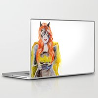 batgirl Laptop & iPad Skins featuring BATGIRL by Clementine Petrova