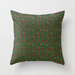 Acorns on Green Throw Pillow