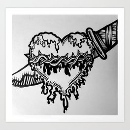 Heart Attack Art Print