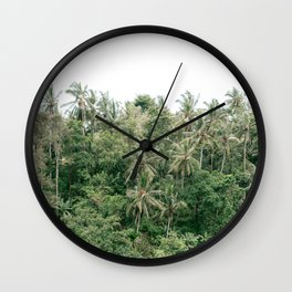 Palm trees | Campuhan Ridge Walk Bali, Indonesia | Travel photography art print photo Wall Clock