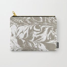 Spilled ink watercolor japanese suminagashi grey and white modern yoga zen art decor Carry-All Pouch