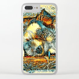AnimalArt_Dog_20170906_by_JAMColorsSpecial Clear iPhone Case