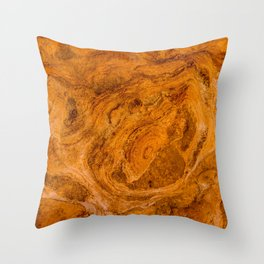 Natural Stone Art-The Cistern, Gold Butte, NV Throw Pillow