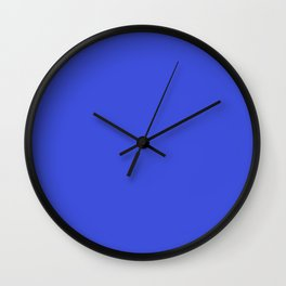 Bright Blue Solid Wall Clock